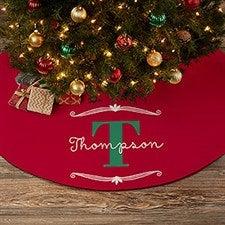 61635bef833 Name   Monogram Personalized Christmas Tree Skirt - 21943
