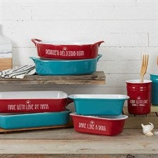Made With Love Personalized Ceramic Bakeware - 21956