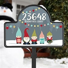Gnome Family Personalized Garden Sign - 21965