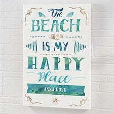 The Beach Is My Happy Place - Personalized Canvas Prints - 21971