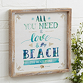 All You Need Is Love & The Beach - Personalized Wall Art - 21972
