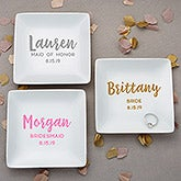 Personalized Ring Dish - Wedding Bridal Party - 21977