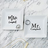 Mr & Mrs Personalized Ring Holder Dish - 21978