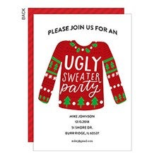 Ugly Christmas Sweater Party Invitations - 22011