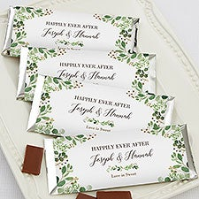Laurels of Love Personalized Candy Bar Wrappers for Wedding - 22025