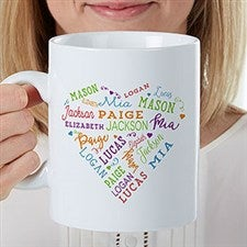 Personalized Oversized Coffee Mug - Close to Her Heart - 22034