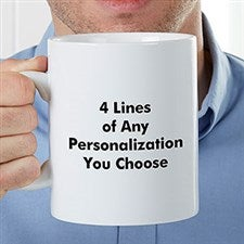 Personalized Oversized Coffee Mug - Add Any Text - 22035
