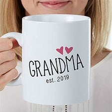 Personalized Oversized Coffee Mugs For Grandparents - 22036