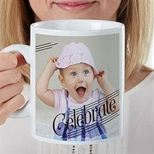 Personalized Oversized Coffee Mug - Photo Expressions - 22037