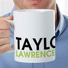 Personalized Oversized Coffee Mug - Bold Name - 22038