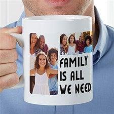 Personalized Oversized 5 Photo Coffee Mug - 22039