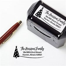 Whimsical Winter Personalized Address Stamp - 22045