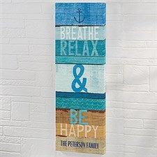 Beachscape Inspiration I Personalized Canvas Art Print - 22056