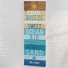 Beachscape Inspiration II Personalized Canvas Art Print - 22057