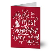 Most Wonderful Time Holiday Greeting Cards - 22074