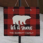 Cozy Cabin Buffalo Check Personalized Slate Plaques - 22080
