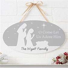 Personalized Christmas Sign - Let Us Adore Him - 22083
