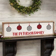 Farmhouse Christmas Personalized Framed Wall Art - 22084