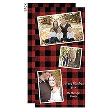 Buffalo Check Christmas Photo Postcards - 22103