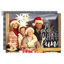 Oh What Fun Personalized Christmas Cards - 22140