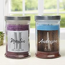 Farmhouse Initial  Personalized Triple Pour Candle Jar - 22169