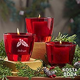 Holiday Icons Kosta Boda Bruk Personalized Red Votive Set - 22174