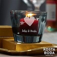 Romantic Kosta Boda Bruk Personalized Grey Votive - 22180