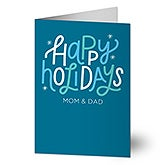 Happy Holidays Personalized Greeting Cards - 22184