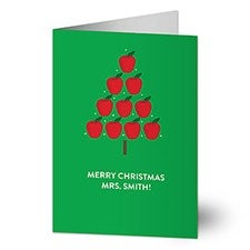 Teacher Apple Tree Holiday Greeting Cards - 22209