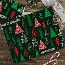 Christmas Trees Personalized Wrapping Paper - 22221