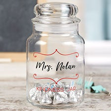 Personalized Glass Candy Jar For Teacher - 22228