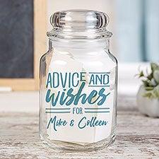 Personalized Wedding Advice & Wish Jar - 22232