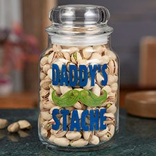 His Stache Personalized Candy Jar - 22233