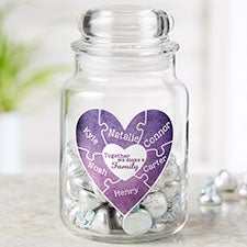 Together We Make A Family Personalized Glass Candy Jar - 22234