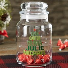 Christmas Family Tree Personalized Candy Jar - 22235