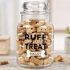 Personalized Pet Treat Jar - Funny Pet Puns - 22236