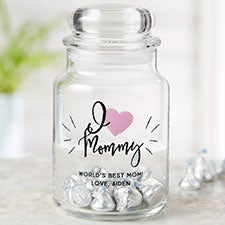 We Love... Personalized Glass Candy Jar For Her - 22237