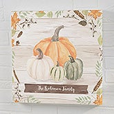 Autumn Pumpkins Light Wash Personalized Canvas Prints - 22243