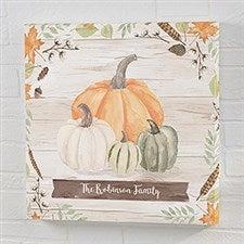 Autumn Pumpkins Light Wash Personalized Canvas Prints - 22243