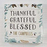 Personalized Canvas Prints - Thankful Grateful Blessed - 22247