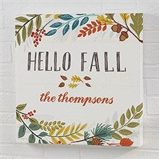 Personalized Canvas Prints - Hello Fall - 22248