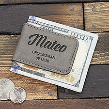 Personalized Magnetic Money Clip Groomsman Gift - 22278