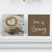 Love is Brewing Personalized Romantic Shelf Blocks - 22299