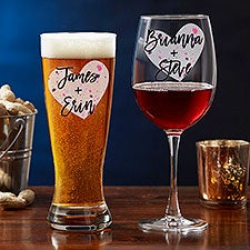 So In Love Personalized Valentine's Day Couple Glasses - 22301