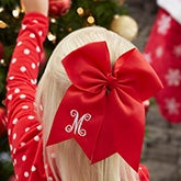 Embroidered Christmas Holiday Hair Bow - 22309
