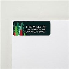 Simple Christmas Trees Return Address Labels  - 22343