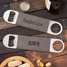 Personalized Leather Bottle Openers - Name & Monogram - 22385