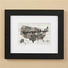 Barnboard Map Personalized Framed Prints - 22402