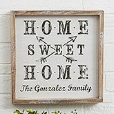 Farmhouse Home Personalized Barnwood Frame Wall Art - 22407