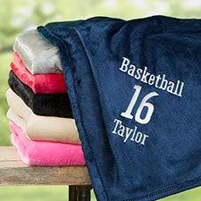 Personalized Sports Fleece Blankets - 22428